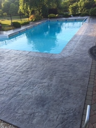 Stamped Concrete Pool Deck in Northern New Jersey