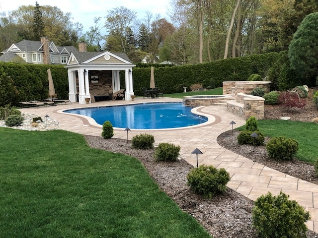 Pool, Patio, Retaining Wall and Hardscape in Ramsey NJ by McEntee Construction