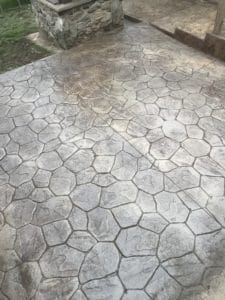 stamped concrete overlay patio in sussex county nj